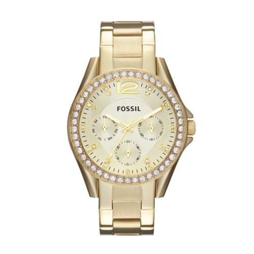 Riley Multifunction Gold-Tone Stainless Steel Watch ES3203