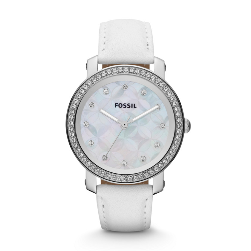 new fossil womens leather white es3233 ebay