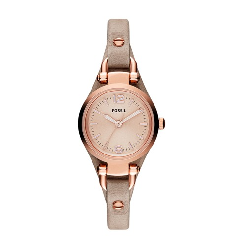 fossil Georgia Mini Sand Leather Watch ES3262
