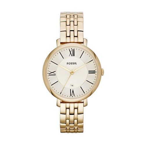 fossil Jacqueline Gold-Tone Stainless Steel Watch ES3434