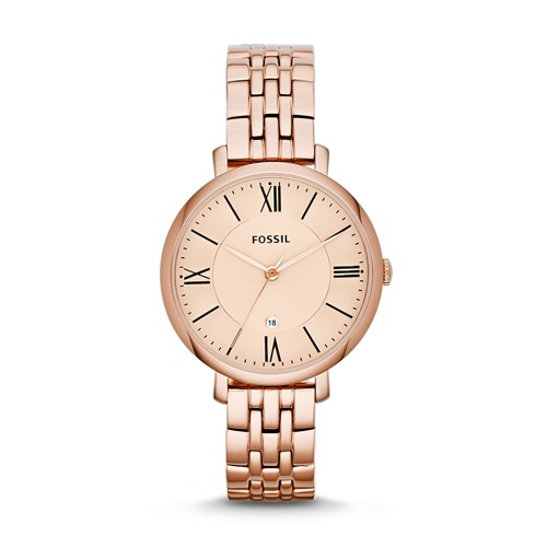 Jacqueline Rose-Tone Stainless Steel Watch ES3435