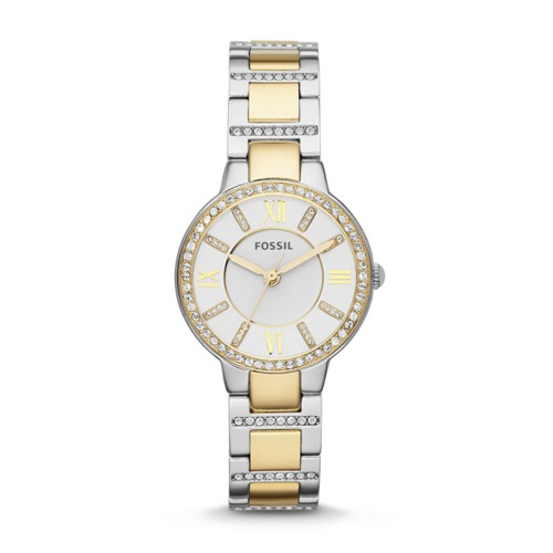 Fossil Virginia Two-Tone Stainless Steel Watch Es3503