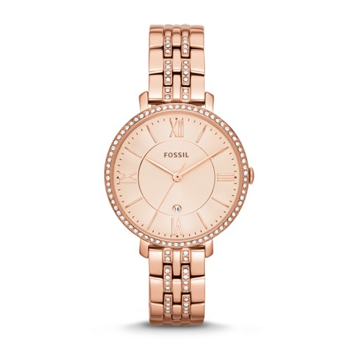 fossil Jacqueline Rose-Tone Stainless Steel Watch ES3546