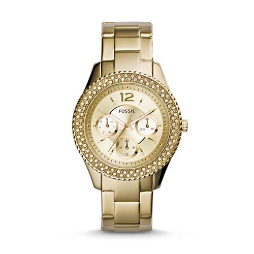 fossil Stella Multifunction Gold-Tone Stainless Steel Watch ES3589