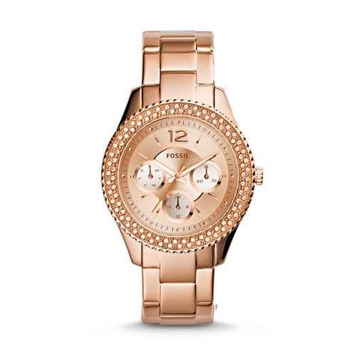 Stella Multifunction Rose-Tone Stainless Steel Watch ES3590