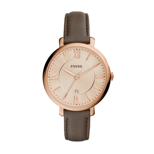 Fossil Jacqueline Gray Leather Watch ES3707