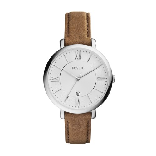 Fossil Jacqueline Brown Leather Watch ES3708