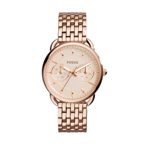 Tailor Multifunction Rose-Tone Stainless Steel Watch ES3713