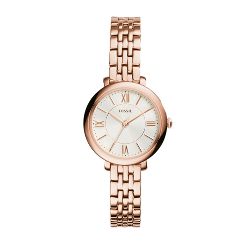Fossil Jacqueline Mini Rose-Tone Stainless Steel Watch ES3799