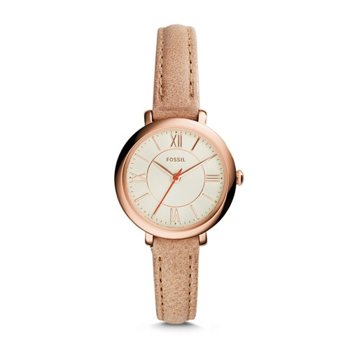 Fossil Jacqueline Mini Sand Leather Watch ES3802