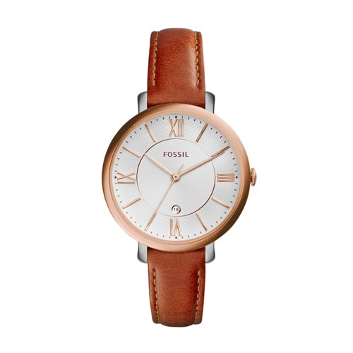 Fossil Jacqueline Cedar Leather Watch ES3842