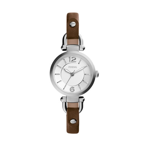 Fossil Georgia Brown Leather Watch ES3861