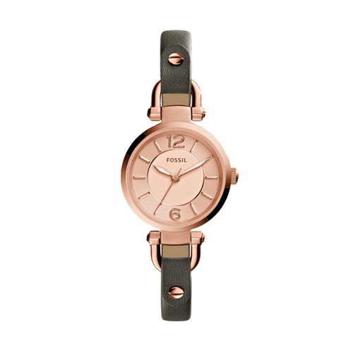 Fossil Georgia Gray Leather Watch ES3862