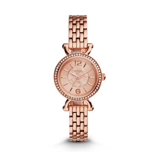 Fossil Georgia Cordell Rose-Tone Stainless Steel Watch ES3894