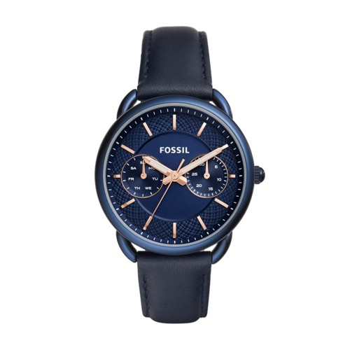 Fossil Tailor Multifunction Blue Leather Watch Es4092
