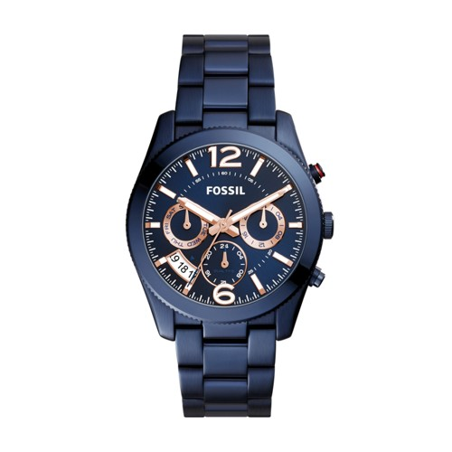 Fossil Perfect Boyfriend Multifunction Blue Stainless Steel Watch ES4093