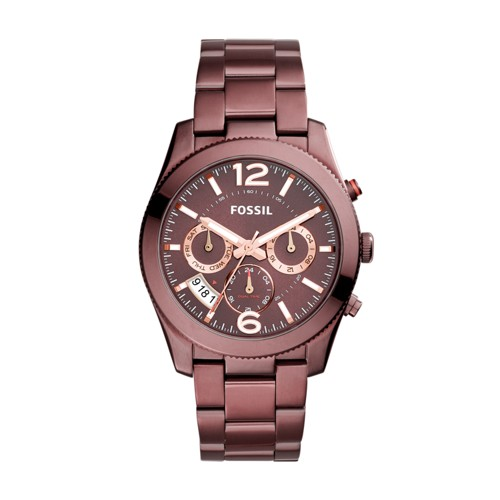Fossil Perfect Boyfriend Multifunction Wine Stainless Steel Watch ES4110