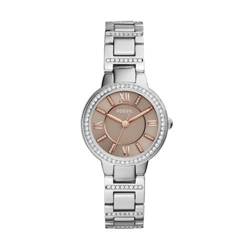 Fossil Virginia Three-Hand Stainless Steel Watch ES4147