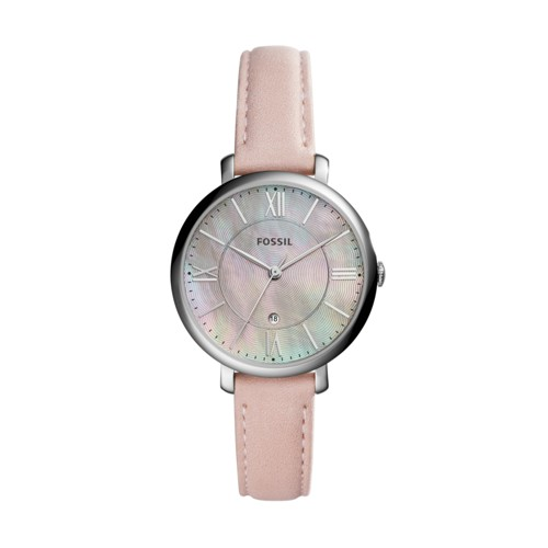 Fossil Jacqueline Three-Hand Date Blush Leather Watch ES4151