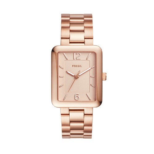 Fossil Atwater Three-Hand Rose Gold-Tone Stainless Steel Watch Es4156