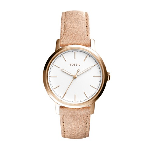 Fossil Neely Three-Hand Sand Leather Watch ES4185