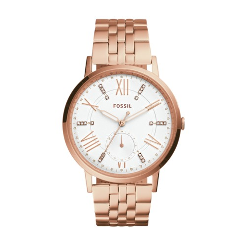 Fossil Gazer Multifunction Rose Gold-Tone Stainless Steel Watch Es4246
