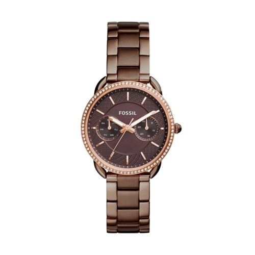 Fossil Tailor Multifunction Brown Stainless Steel Watch ES4258