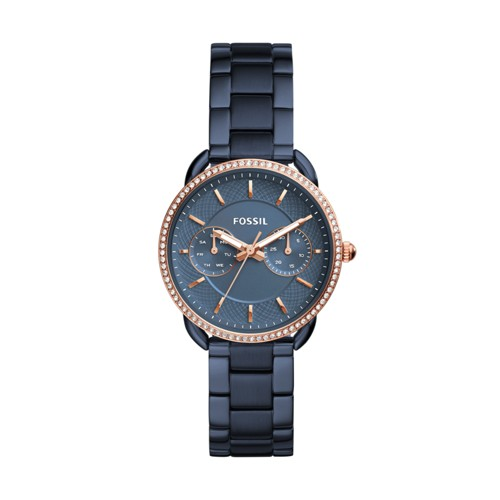 Fossil Tailor Multifunction Blue Stainless Steel Watch ES4259