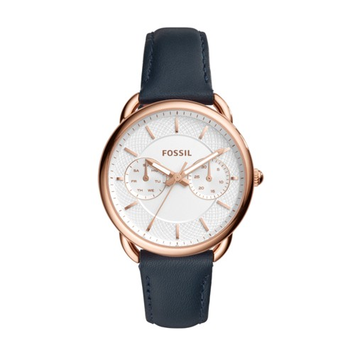 Fossil Tailor Multifunction Navy Leather Watch ES4260