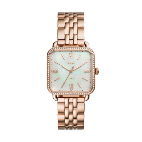 Fossil Micah Three-Hand Rose Gold-Tone Stainless Steel Watch Es4269
