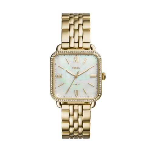 Fossil Micah Three-Hand Gold-Tone Stainless Steel Watch ES4270