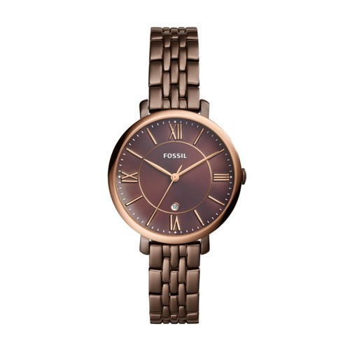 Fossil Jacqueline Three-Hand Date Brown Stainless Steel Watch ES4275