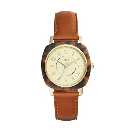 Fossil Idealist Three-Hand Luggage Leather Watch ES4281