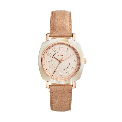 Fossil Idealist Three-Hand Sand Leather Watch ES4282