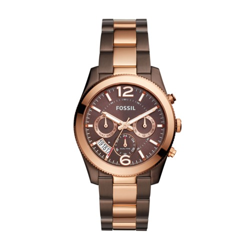 Fossil Perfect Boyfriend Multifunction Two-Tone Stainless Steel Watch Es4284
