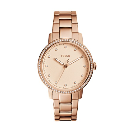 Fossil Neely Three-Hand Rose Gold-Tone Stainless Steel Watch ES4288