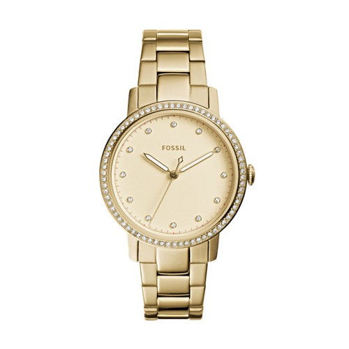 Neely Three-Hand Gold-Tone Stainless Steel Watch ES4289