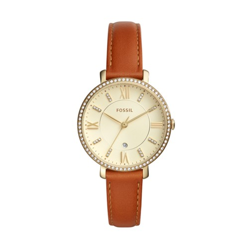 Fossil Jacqueline Three-Hand Date Luggage Leather Watch ES4293