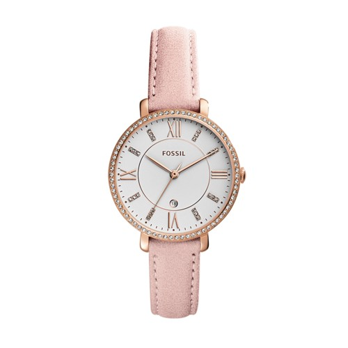 Fossil Jacqueline Three-Hand Date Blush Leather Watch ES4303
