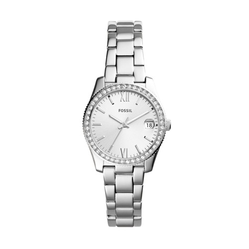 Fossil Scarlette Mini Three-Hand Date Stainless Steel Watch ES4317