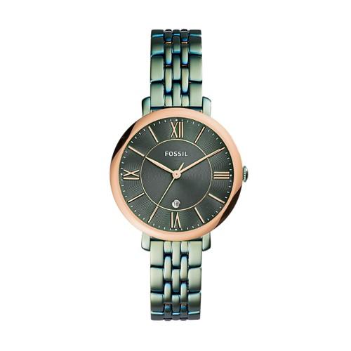 Fossil Jacqueline Three-Hand Date Alpine Green Stainless Steel Watch ES4323