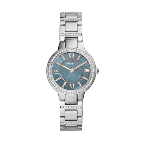 Fossil Virginia Three-Hand Stainless Steel Watch ES4327