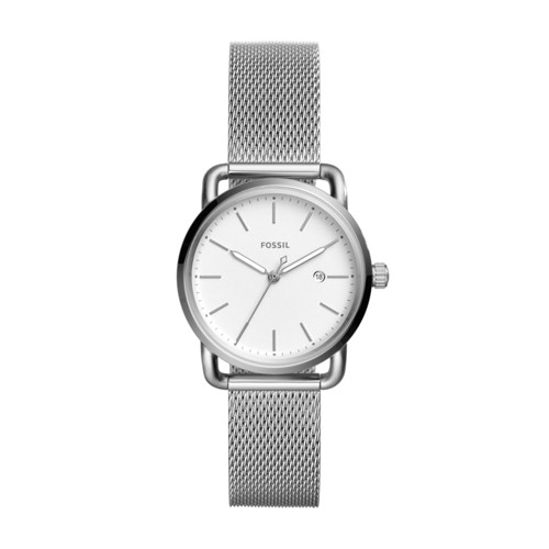 Fossil The Commuter Three-Hand Date Stainless Steel Watch ES4331