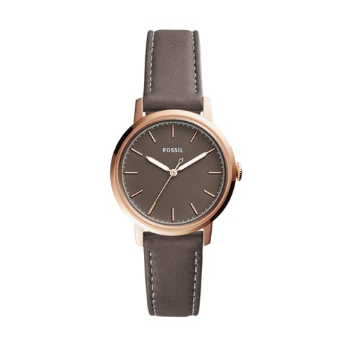Neely Three-Hand Gray Leather Watch ES4339