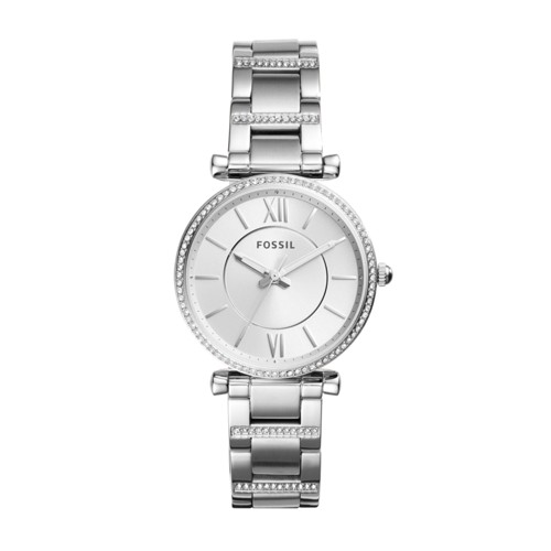 Carlie Three-Hand Stainless Steel Watch ES4341