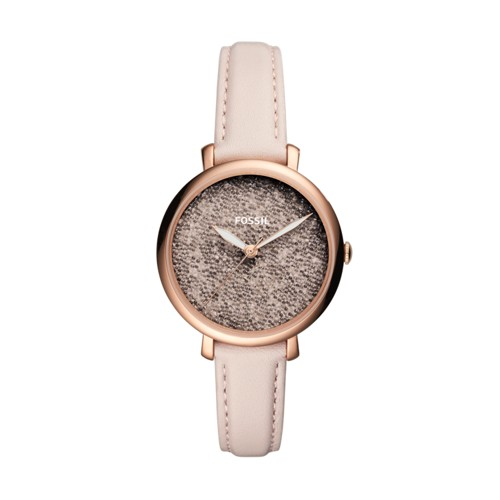 Fossil Jacqueline Three-Hand Pastel Pink Leather Watch ES4345