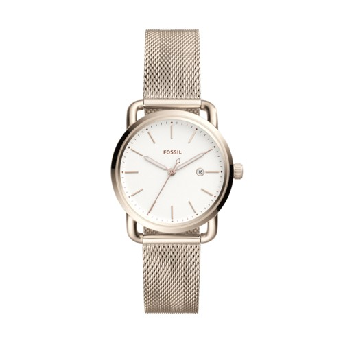 Fossil The Commuter Three-Hand Date Stainless Steel Watch ES4349