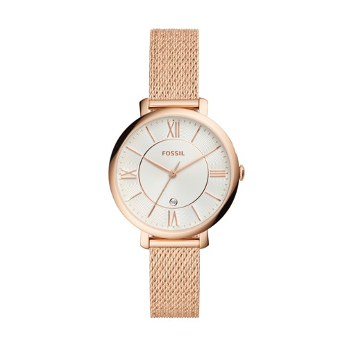 Fossil Jacqueline Three-Hand Rose Gold-Tone Stainless Steel Watch ES4352