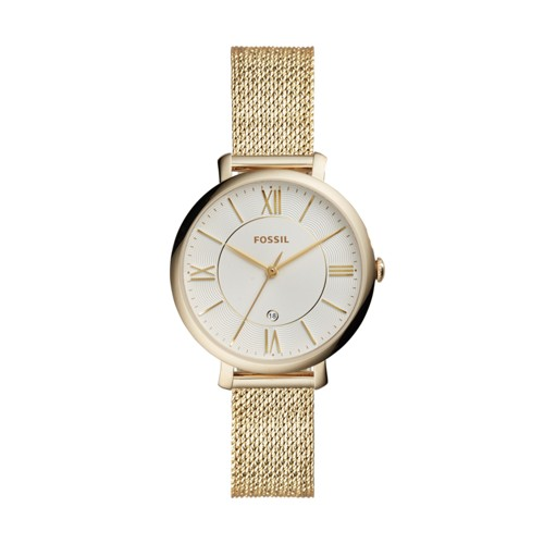 Fossil Jacqueline Three-Hand Gold-Tone Stainless Steel Watch ES4353