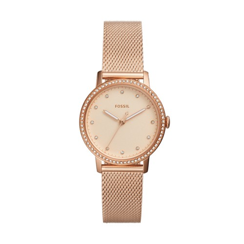 Fossil Neely Three-Hand Rose Gold-Tone Stainless Steel Watch Es4365